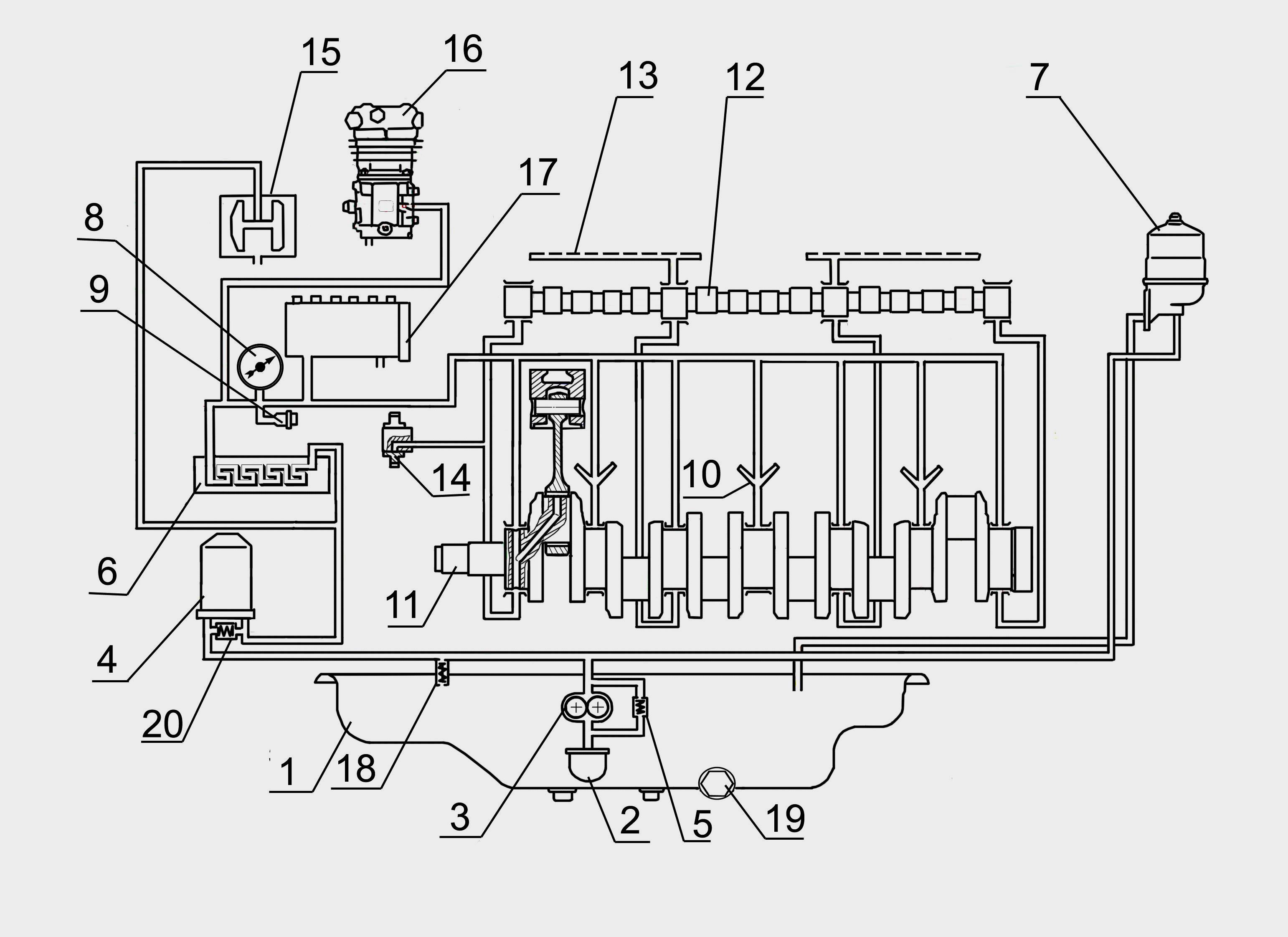 Схема двигателе д 260
