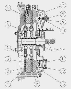 Диск сцепл. средний МТЗ 1221 (пр-во БЗТДиА) 1520-1601092.