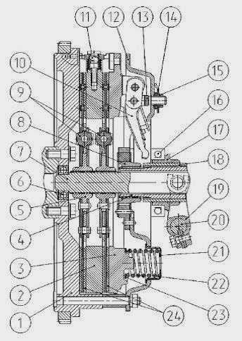 Диск сцепл. средний МТЗ 1221 в сб. (с пружиной) (пр-во.