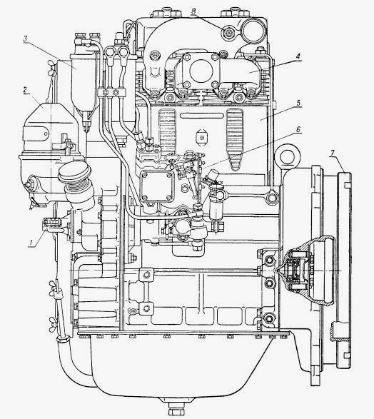 Картер двигателя (поддон) ЮМЗ