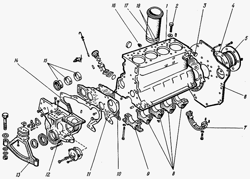 Ремонт поршневой группы трактора МТЗ-80, МТЗ-82