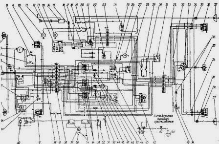 схема электрооборудования трактора мтз 82 1